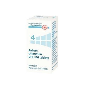DR. SCHÜSSLERA Kalium chloratum DHU D6 No.4 200 tablet