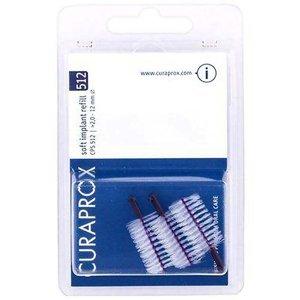 CURAPROX CPS 512 Náhradní mezizubní kartáčky na čištění implantátů Soft Implant Fialová (Refill) 5 ks