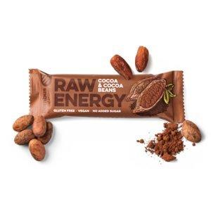 BOMBUS Raw energetická tyčinka kakao a kakaové boby 50 g