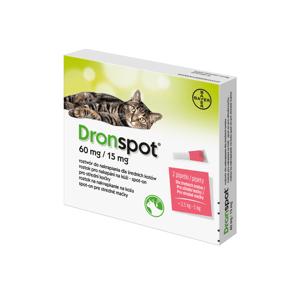 DRONSPOT 60 mg/15 mg spot-on pro střední kočky 2x0,75 ml