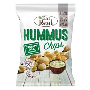 EAT REAL Hummus Chips s krémovým koprem 45 g BEZ lepku