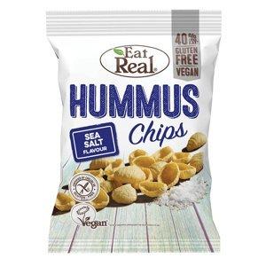 EAT REAL Hummus Chips s mořskou solí 135 g BEZ lepku