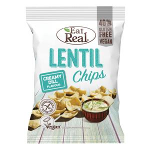 EAT REAL Lentil Chips s krémovým koprem 113 g BEZ lepku