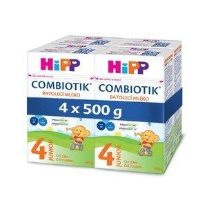 HiPP 4 JUNIOR Combiotik Pokračovací batolecí mléko od 2 let 4 x 500 g