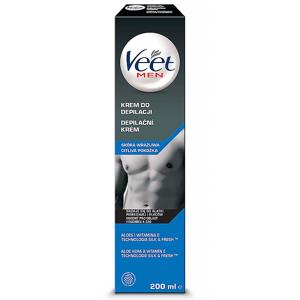 VEET Depilační krém pro muže pro citlivou pokožku Men Silk & Fresh 200 ml
