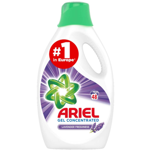 ARIEL Lavender Tekutý Prací Prostředek 2,64 l 48 Praní