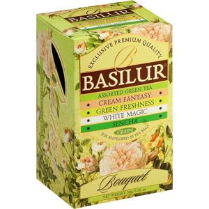 BASILUR Assorted Green Bouquet zelený čaj 25 sáčků
