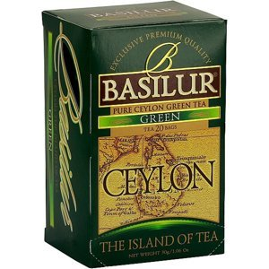 BASILUR Island of Tea Green zelený čaj 20 sáčků