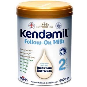 KENDAMIL 2 DHA+ Pokračovací kojenecké mléko od 6 - 12 měsíců 900 g, poškozený obal