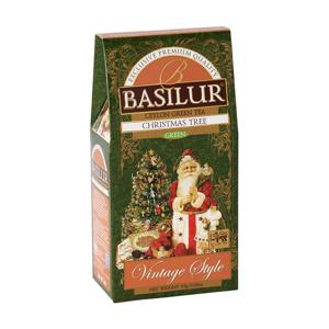 BASILUR Vintage Style Christmas Tree zelený čaj 85 g