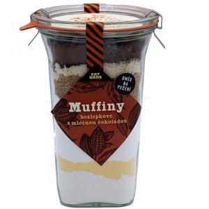 FAT BROTHERS Muffiny s mléčnou čokoládou a kakaem v dóze 535 g