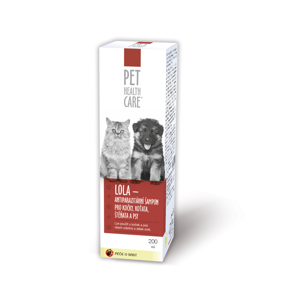 PET HEALTH CARE LOLA antiparazitární šampon pro kočky, koťata, štěňata 200 ml, poškozený obal