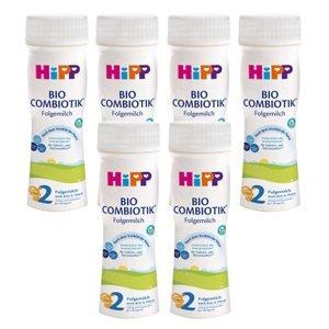HiPP Combiotik 2 Tekuté pokračovací mléko od 6.měsíce BIO 6x 200ml