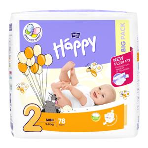 HAPPY Mini big pack dětské pleny 3 - 6 kg 78 kusů, poškozený obal
