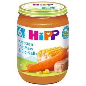 HiPP Mrkev s kukuřicí a telecím masem BIO 190 g
