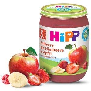 HiPP Jahody s malinami a jablkem BIO 190 g