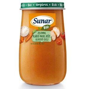 SUNAR BIO příkrm Zelenina kuř. maso rýže ol. ol. 190 g