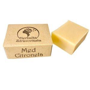 HERBALKA šamponové mýdlo zdravovláska med citronela 105 g