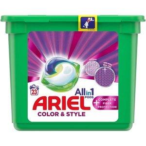 ARIEL Allin1 Color & Style + Complete Fiber Protection Kapsle na praní 23 PD