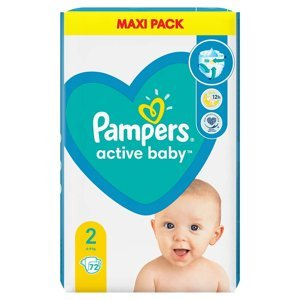 PAMPERS New Baby vel.2 Dětské plenky 3-6kg 72 ks