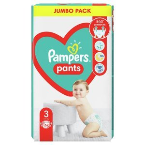 PAMPERS Pants vel.3 Plenkové kalhotky 6-11kg 62 ks