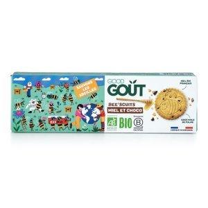 GOOD GOUT BIO Bee´scuits, sušenky s medem a kousky čokolády 100 g