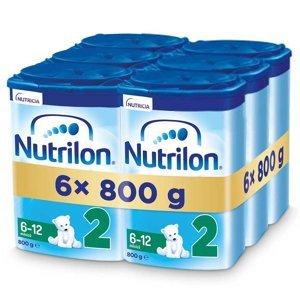 NUTRILON 2 Advanced Pokračovací kojenecké mléko od 6-12 měsíců 6 x 800 g