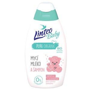 LINTEO Baby Mycí mléko a šampon s Bio měsíčkem lékařským 425 ml