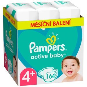PAMPERS Active Baby měsíční balení vel.4+ 10-15kg 164 ks