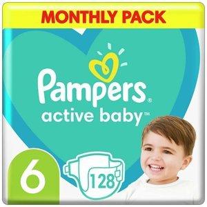 PAMPERS Active Baby měsíční balení vel.6 13-18kg 128 ks