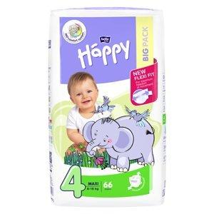 HAPPY Maxi Big Pack Dětské pleny 8-18kg 66 ks, poškozený obal