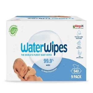 WATERWIPES 100% BIO Odbouratelné ubrousky 9x 60 ks