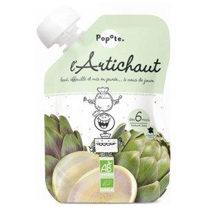 POPOTE Zeleninová kapsička artyčok od 6.měsíce BIO 120 g