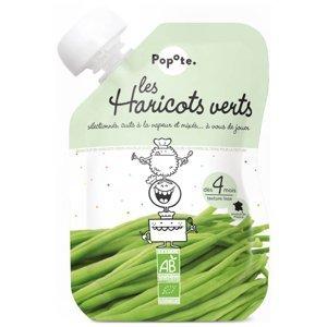 POPOTE Zeleninová kapsička zelené fazole od 4.měsíce BIO 120 g