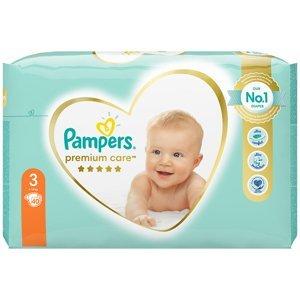 PAMPERS Premium Care Value Pack Minus vel.3 Dětské plenky 6-10kg 40 ks