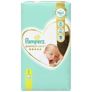 PAMPERS Premium Care Value Pack Minus vel.1 Dětské plenky 2-5kg 52 kg
