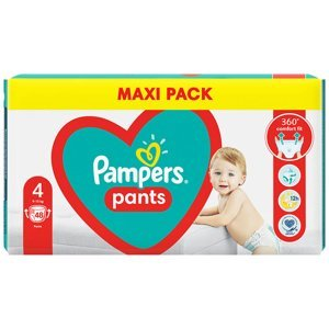 PAMPERS Pants vel.4 Plenkové kalhotky 9-15kg 48 ks