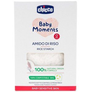CHICCO Škrob dětský rýžový do koupele zklidňující Baby Moments Sensitive 100 % bio 250 g