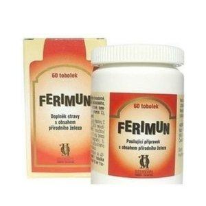 FERIMUN Přípravek s obsahem přírodního železa  60 tobolek