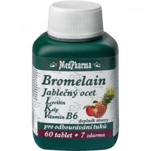 MEDPHARMA Bromelain + jabl. ocet + lecitin  67 tablet