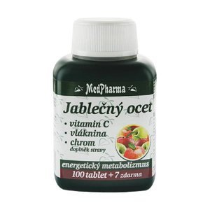 MEDPHARMA Jablečný ocet + vláknina + vitamín C + chrom 107 tablet