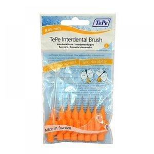 TEPE Mezizubní kartáčky oranžové 0,45 mm v sáčku 8 kusů