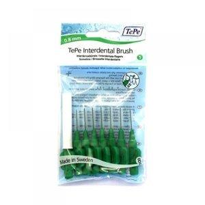TEPE Mezizubní kartáčky 0,8 zelené 8 ks